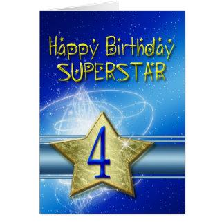 4ème Carte d'anniversaire pour le superstar