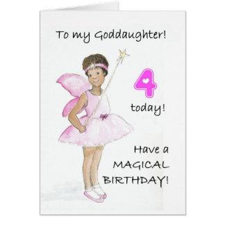 4ème Carte d'anniversaire pour une filleule
