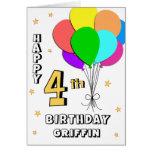 4ème carte d'anniversaire remplie par ballon