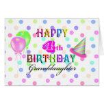 4ème Petite-fille d'anniversaire Carte De Vœux