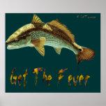 4Ft. Affiche de fièvre de rougets communs par Fish