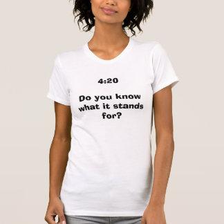 4h20 savez-vous ce que représente il ? t-shirt