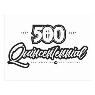 500th Carte postale d'anniversaire