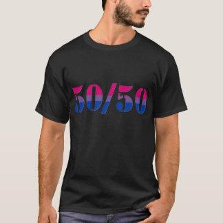 """50/50"" T-shirt bisexuel de fierté"