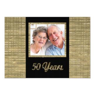 50 ans d'invitation d'anniversaire avec carton d'invitation  12,7 cm x 17,78 cm