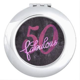 50 est FABULEUX ! cinquantième Scintillement rose Miroir De Poche