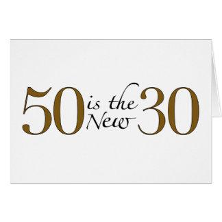 50 est les nouveaux 30 carte de vœux