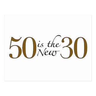 50 est les nouveaux 30 cartes postales