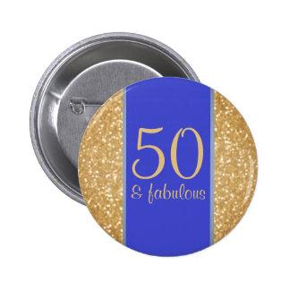 50 et cinquantième anniversaire fabuleux pin's
