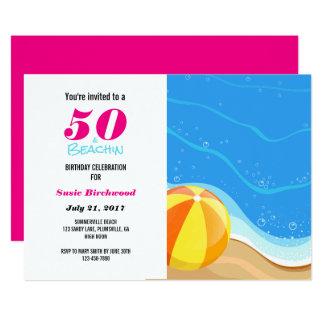 50 et cinquantième invitation d'anniversaire de