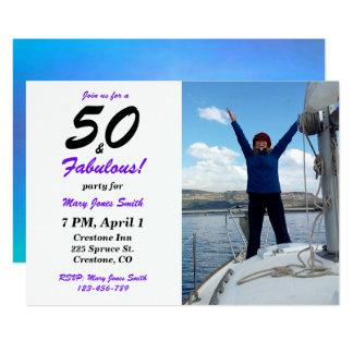 50 et cinquantième invitation fabuleuse de photo