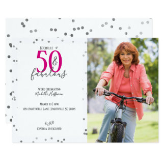 50 et cinquantième invitations fabuleuses de fête