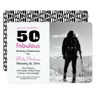 50 et invitation fabuleuse de partie avec la photo