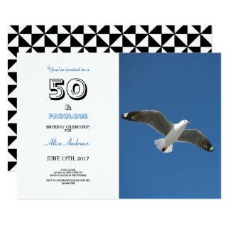 50 et invitation fabuleuse de photo d'anniversaire