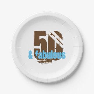 50 et plaque à papier fabuleuse de fête assiettes en papier