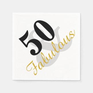 50 et serviettes de papier fabuleuses de fête serviettes jetables