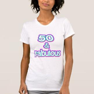 50 et T-shirt fabuleux d'anniversaire