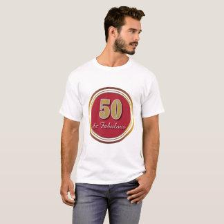 50 et T-shirt fabuleux de célébration de Bourgogne
