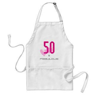 50 et tablier élégant fabuleux d'anniversaire de