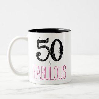 50 et tasse fabuleuse d'anniversaire