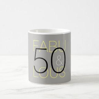 50 et tasse grise et jaune noire moderne fabuleuse