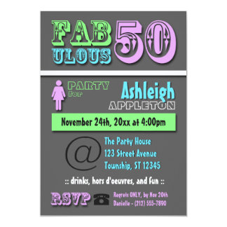 50 FABULEUX - Invitations modernes fraîches