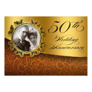 50 invitations de photo d'anniversaire de mariage