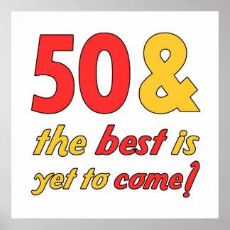 50 meilleurs cadeaux d'anniversaire poster