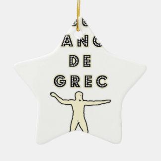 50 NUANCES DE GREC - Jeux de Mots - Francois Ville Ornement Étoile En Céramique