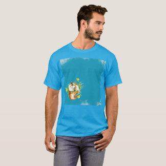 50 nuances de T-shirt rare d'aquarelle bleue de