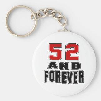 52 conceptions d'anniversaire porte-clé rond