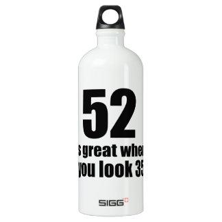 52 est grand quand vous regardez l'anniversaire bouteille d'eau en aluminium