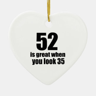 52 est grand quand vous regardez l'anniversaire ornement cœur en céramique