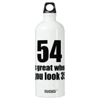 54 est grand quand vous regardez l'anniversaire bouteille d'eau en aluminium