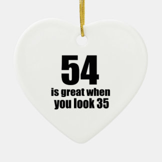 54 est grand quand vous regardez l'anniversaire ornement cœur en céramique