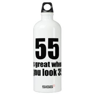 55 est grand quand vous regardez l'anniversaire bouteille d'eau en aluminium
