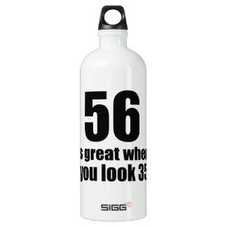 56 est grand quand vous regardez l'anniversaire bouteille d'eau en aluminium