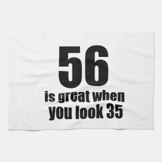 56 est grand quand vous regardez l'anniversaire linge de cuisine
