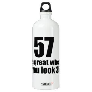 57 est grand quand vous regardez l'anniversaire bouteille d'eau en aluminium