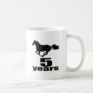 5 ans de conceptions d'anniversaire mug