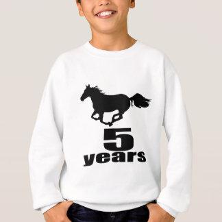 5 ans de conceptions d'anniversaire sweatshirt