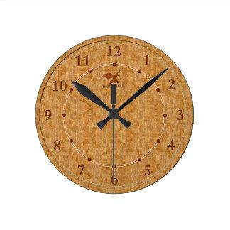 5 décoratifs en bois légers une vente moderne horloge ronde