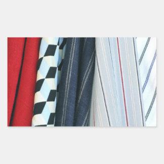 5 tissus avec les motifs géométriques sticker rectangulaire