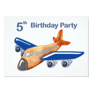 5ème anniversaire d'avion extraordinaire carton d'invitation  12,7 cm x 17,78 cm