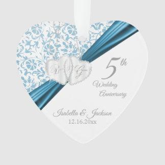 5ème Anniversaire de mariage bleu