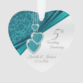 5ème Anniversaire de mariage de turquoise