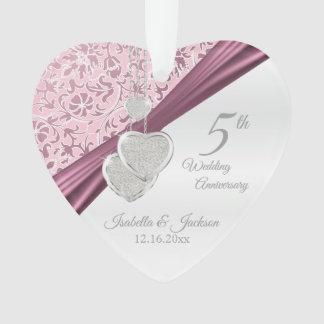 5ème Anniversaire de mariage rose
