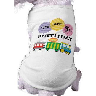 5ème Anniversaire de train d'anniversaire T-shirt Pour Chien