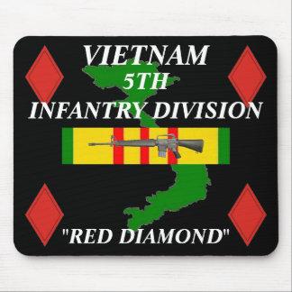5ème Infanterie Vietnam Mousepad 2/b Tapis De Souris