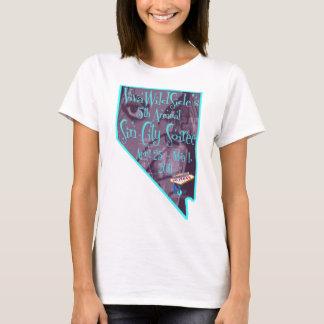 """5ème Sin City logo annuel du """"Nevada"""" de Soiree de T-shirt"""